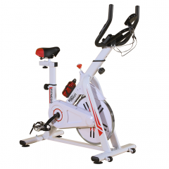 BodyTrain ES-7021 Racing Studio Style Exercise Bike White