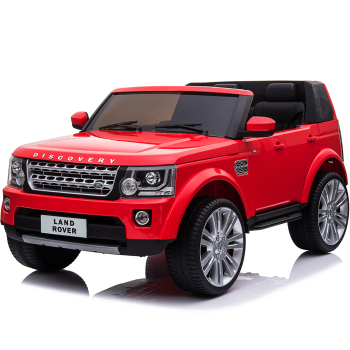 Kids Electric Ride On Car Land Rover Discovery Twin Seat Red
