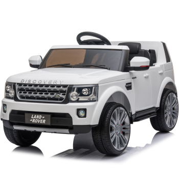 Kids Electric Ride On Land Rover Discovery 12v Single Seat - White