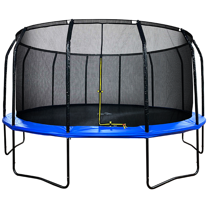 Image of Air League 16ft Powder Coated Trampoline & Enclosure Blue