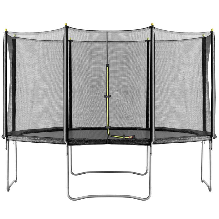 Image of Air Dog 12ft T Trampoline & Enclosure Black