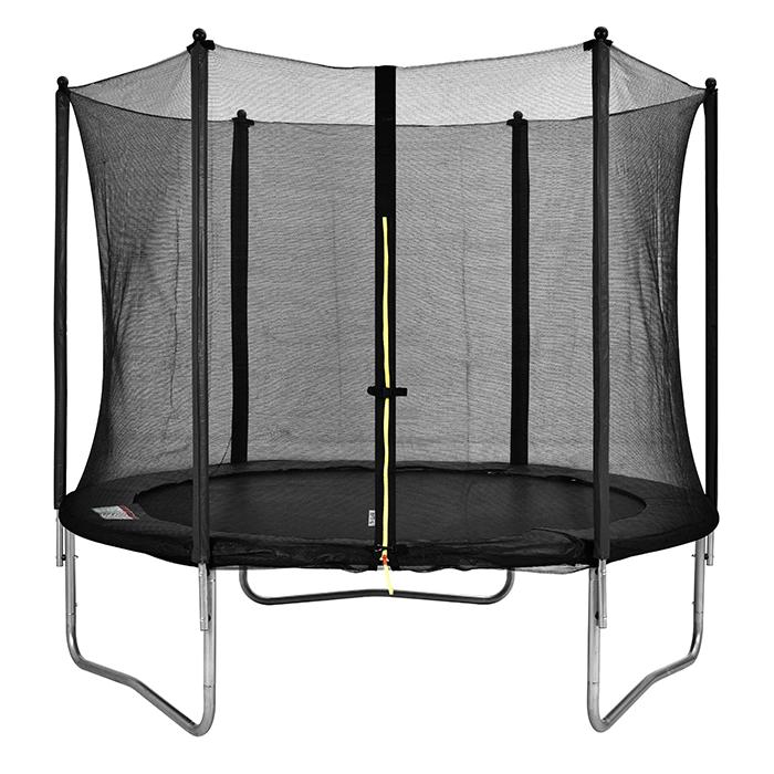 Image of Air Dog 10ft Trampoline & Safety Enclosure Black