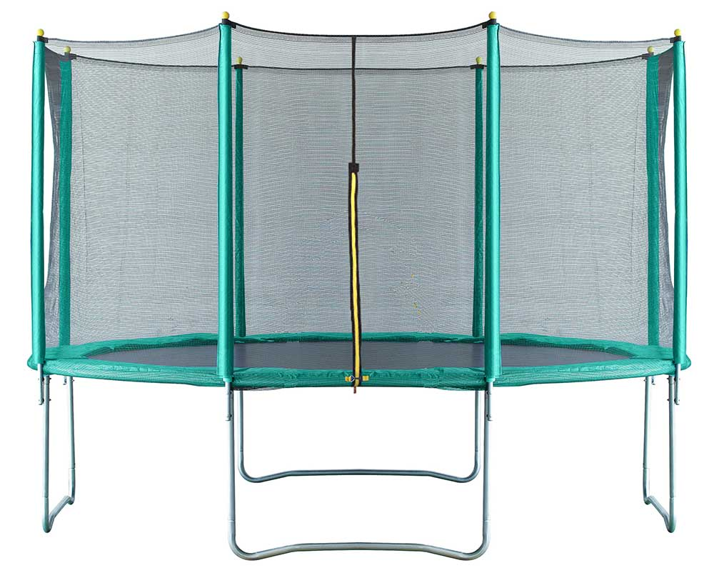 Image of Air Dog 14ft Trampoline + Safety Enclosure Green