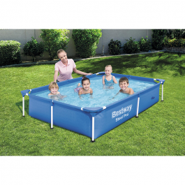 Bestway 7ft 3inch Rectangular Above Ground Steel Pro Swimming Pool