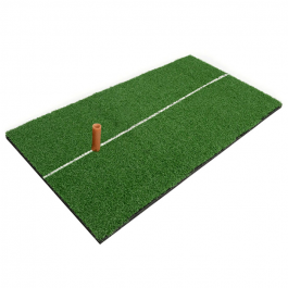 Hillman PGM Golf Artificial Turf Portable Practice Mat with Rubber Tee