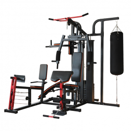 IronMan IM306 Advanced 3 Station Home Multi Gym With Punch Bag