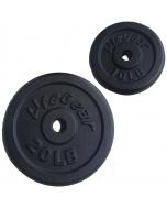 Lifegear 100lb Black Standard Weight Plate Set
