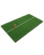 Hillman Portable Golf Artificial Turf Practice Mat with Rubber Tee