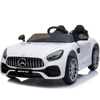 Kids Electric Car Mercedes AMG GT 12v Twin Seat - White
