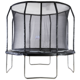 Big Air Extreme 10ft Trampoline with Safety Enclosure Black