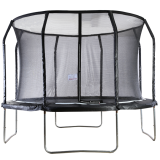 Big Air Extreme 12ft Trampoline with Safety Enclosure Black