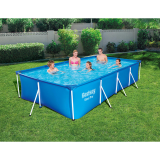 Bestway 13ft Rectangular Above Ground Steel Pro Swimming Pool