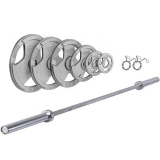 """Ironman 140kg Olympic Tri-grip Hammertone Weight Set with 86"""" Olympic Weight Bar"""