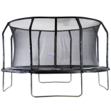 Big Air Extreme 14ft Trampoline with Safety Enclosure Black