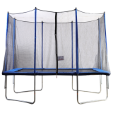 5x7ft Rectangular Trampoline with Safety Enclosure