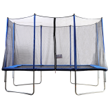 7x11ft Rectangular Trampoline with Safety Enclosure