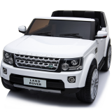Kids Electric Ride On Car Land Rover Discovery Twin Seat White