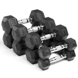 Ironman Rubber Coated Hex 5kg Dumbbell Pair
