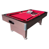Walker & Simpson Captain 6ft Slate Bed Pool Table mahogany red