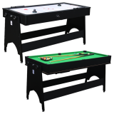 Walker & Simpson 2 in 1 Air Hockey & Pool Combo Table in Black