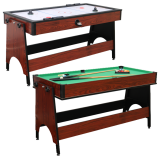 Walker & Simpson 2 in 1 Air Hockey & Pool Combo Table in Mahogany