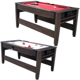 Air King 6ft Pool & Air Hockey Combination Table with Mahogany Body