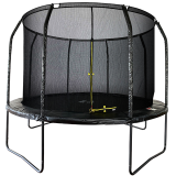 10ft Powder Coated Trampoline with Enclosure Black