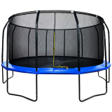 16ft Powder Coated Trampoline & Enclosure Blue