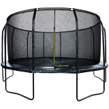 16ft Powder Coated Trampoline & Enclosure Black