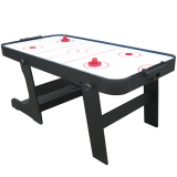 Black 6ft Foldable Air Hockey Table
