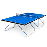 Air King Flat Hitter Offical Size Folding Table Tennis Table – Blue