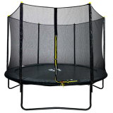 10ft Powder Coated Trampoline with Safety Enclosure