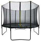 12ft Powder Coated Trampoline with Safety Enclosure
