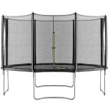 Velocity 12ft T Trampoline & Enclosure Black