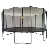 Velocity 16ft Powder Coated Trampoline with Safety Enclosure