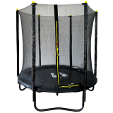 Velocity 6ft Trampoline with Enclosure Black
