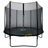 Velocity 8ft Trampoline and Safety Enclosure Black