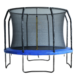 Big Foot 10ft Powder Coated Trampoline with Enclosure Blue