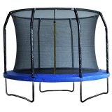8ft Powder Coated Trampoline with Enclosure Blue