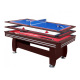 Walker and Simpson 7ft Gamesmaster 3 in 1 Deluxe in Mahogany
