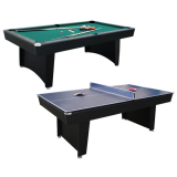 Air King 7ft Dual Pool & Table Tennis Table with Black Body