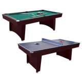 Air King 7ft Dual Pool & Table Tennis Table with Mahogany Body