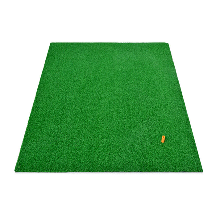 Hillman PGM Golf Artificial Turf Large Practice Mat with Rubber Tee