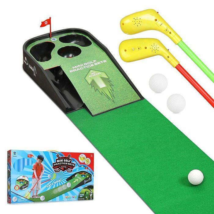 Hillman Kids Indoor Mini Golf Putting Practice Set Game with Sounds
