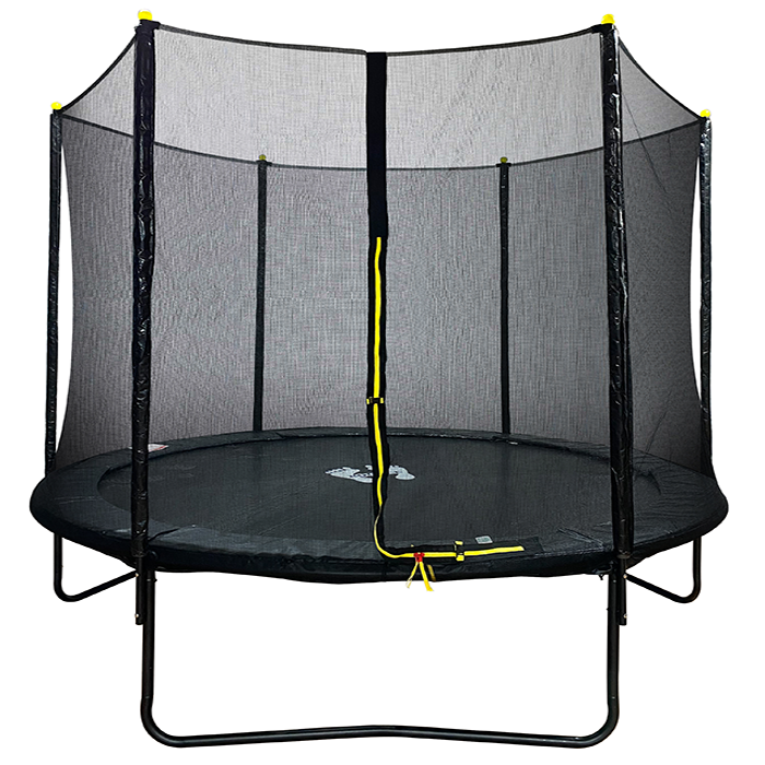 Velocity 10ft Powder Coated Trampoline with Safety Enclosure