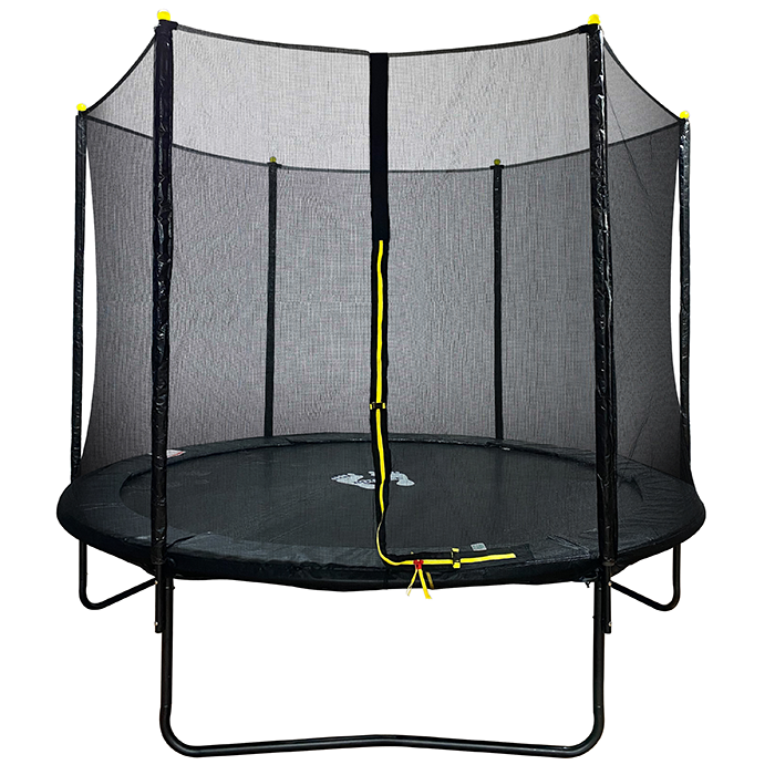 Velocity 8ft Powder Coated Trampoline with Safety Enclosure